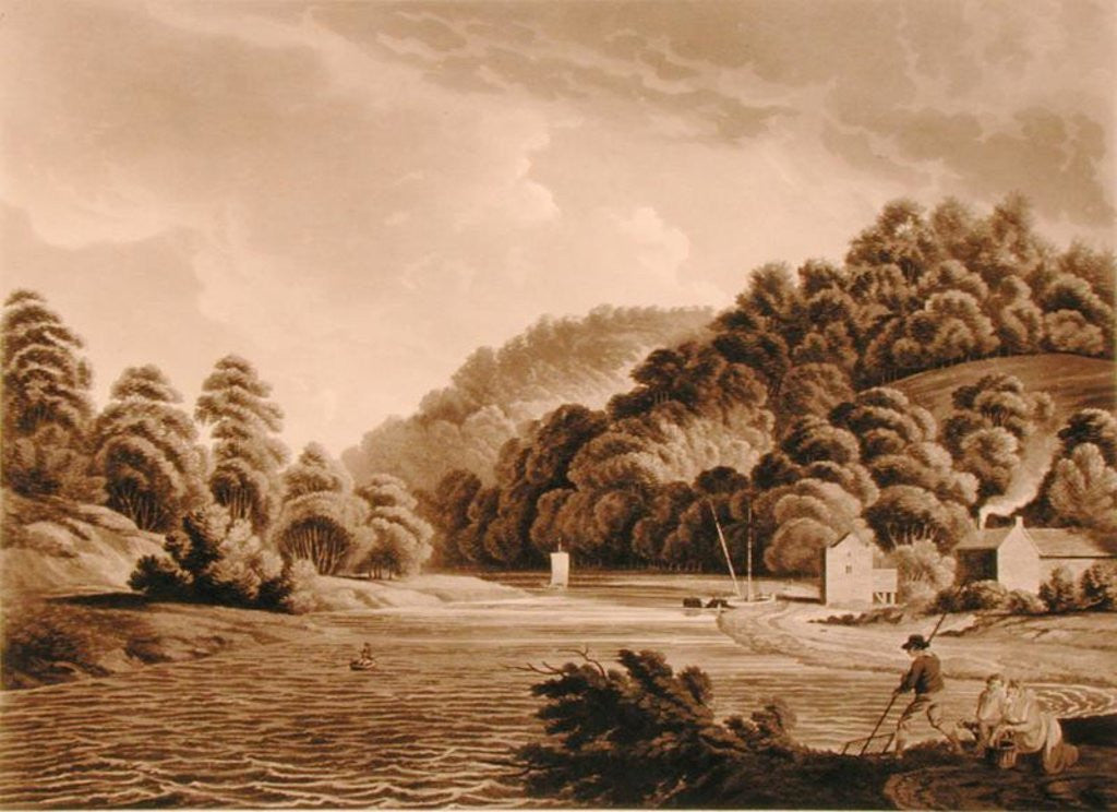 Detail of View at Redbrook in the River Wye, plate 13 from 'Views of the River Wye', engraved by F. Jukes by Edward Dayes