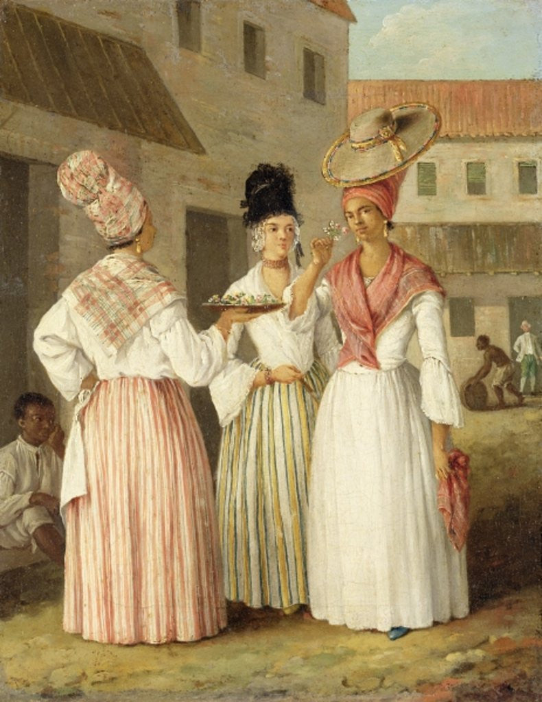 Detail of A West Indian Flower Girl and Two Other Free Women of Colour by Agostino Brunias