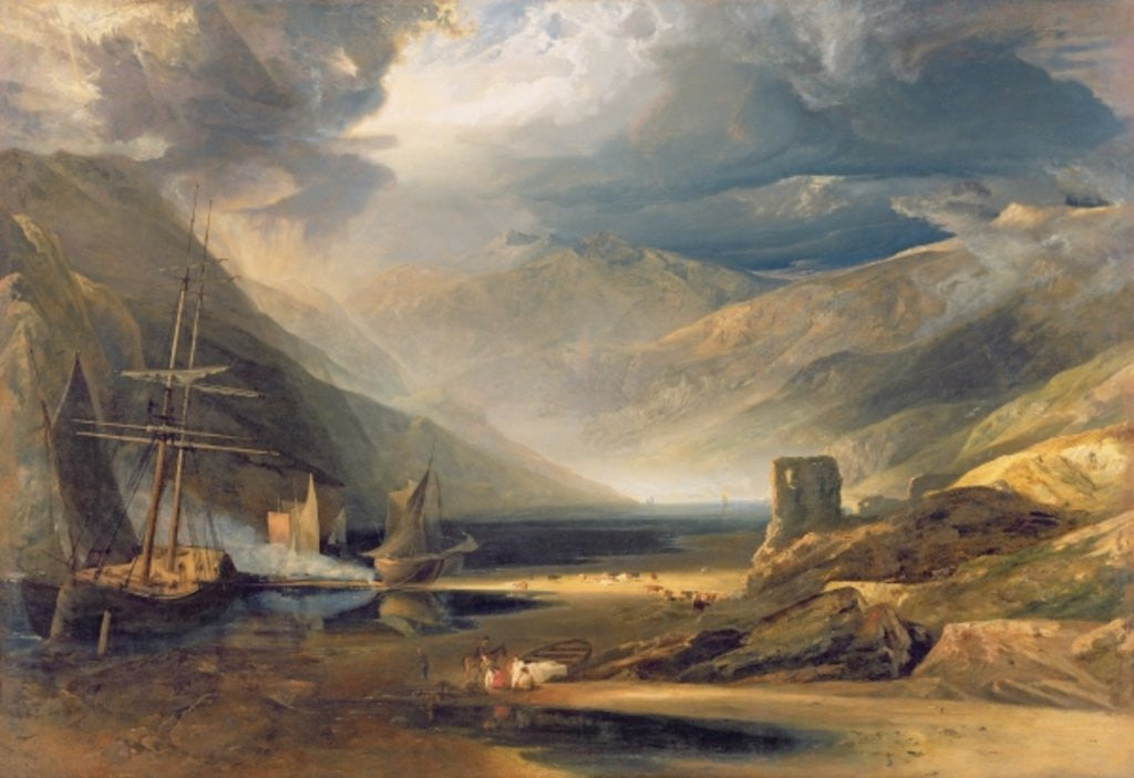 Detail of A Storm Passing Off on the Coast of Merionethshire by Anthony Vandyke Copley Fielding