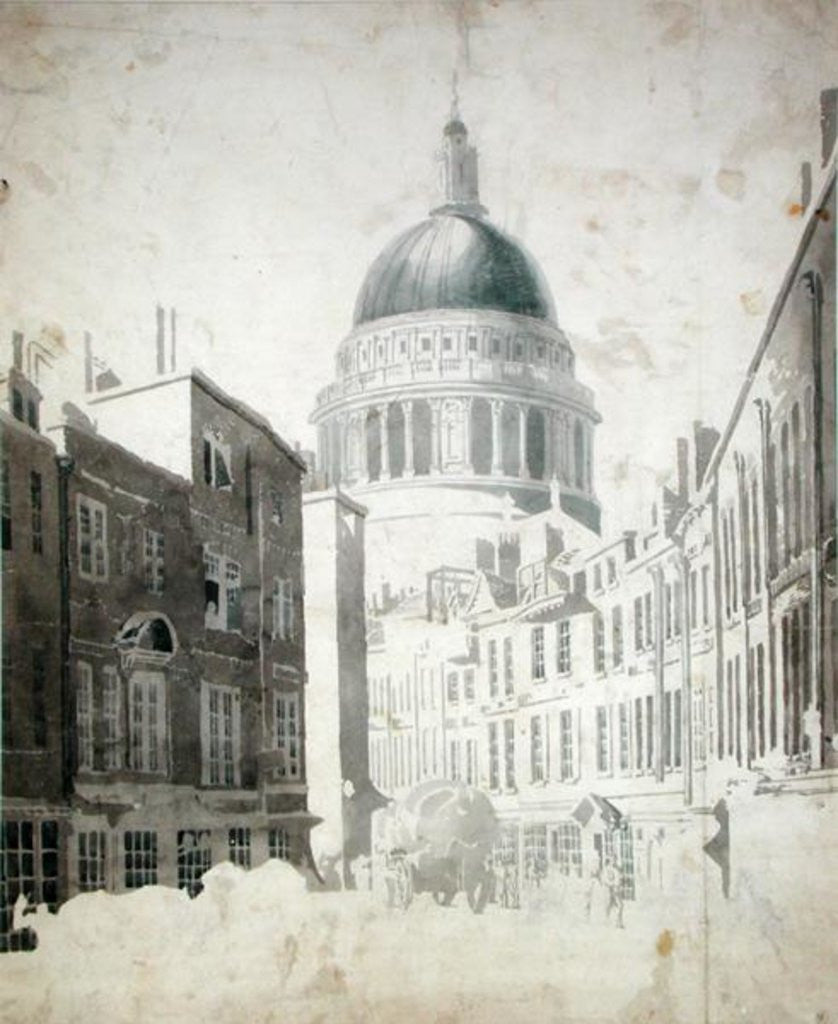 Detail of St. Paul's Cathedral by Thomas Girtin