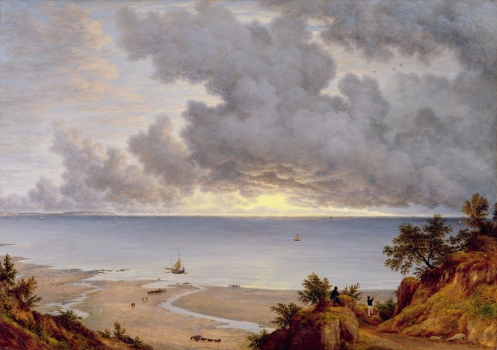 Detail of View from Shanklin, Isle of Wight by John Glover