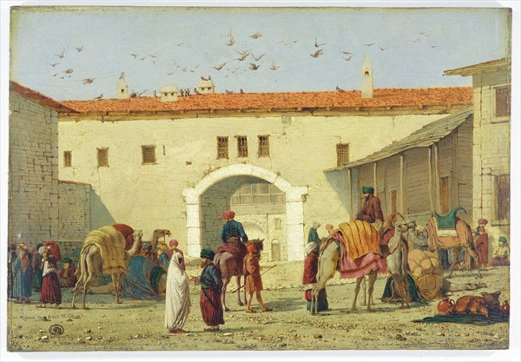 Detail of Caravanserai at Mylasa, Turkey by Richard Dadd