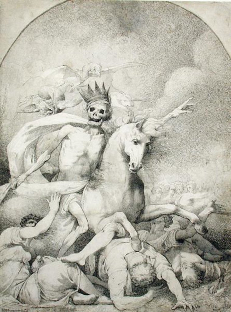 Detail of Death on a Pale Horse by John Hamilton Mortimer