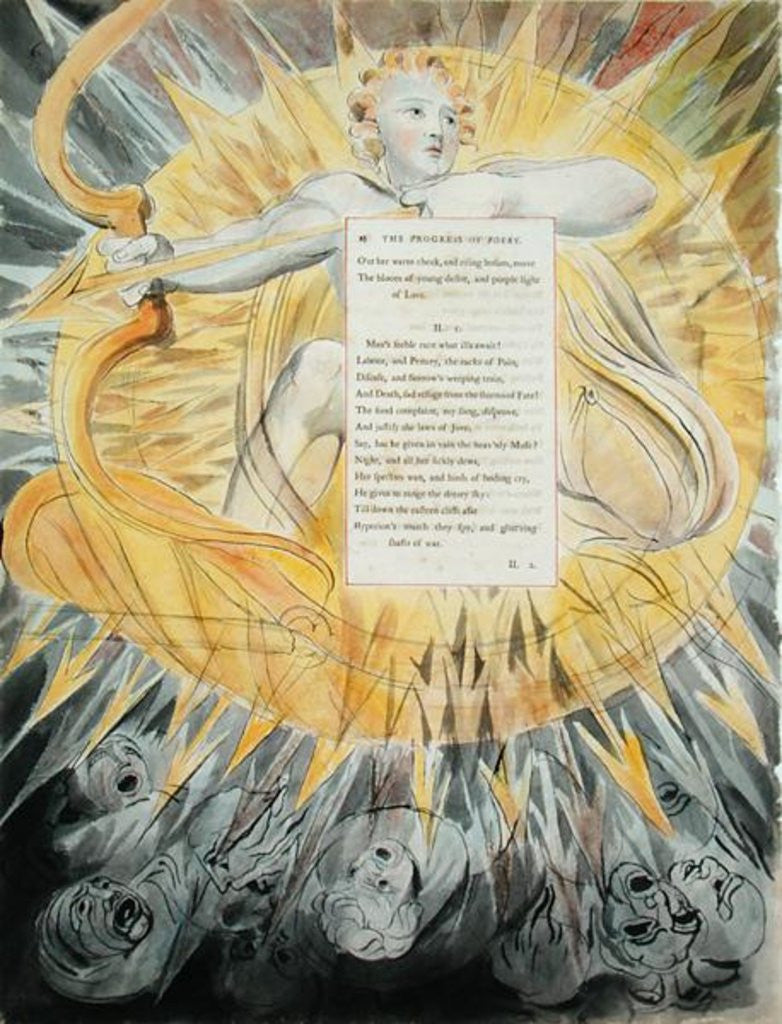 Detail of The Progress of Poesy by William Blake
