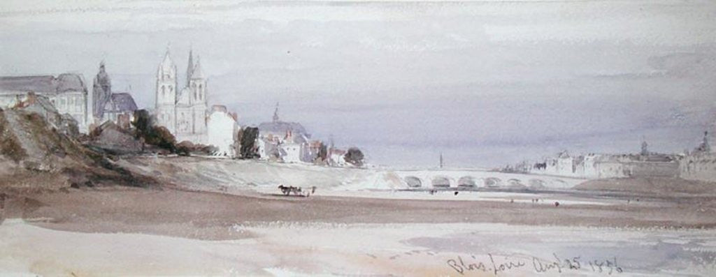 Detail of Blois on the Loire by William Callow