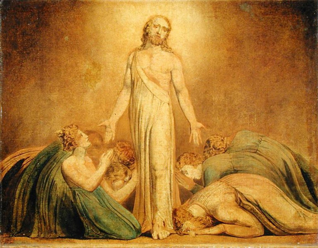 Detail of Christ Appearing to the Apostles after the Resurrection by William Blake