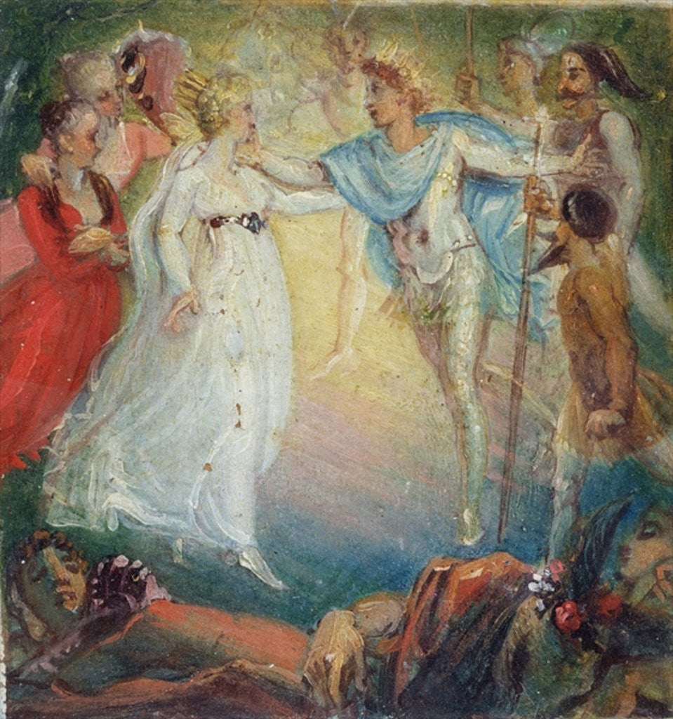 Detail of Oberon and Titania from 'A Midsummer Night's Dream' by William Shakespeare by Thomas Stothard