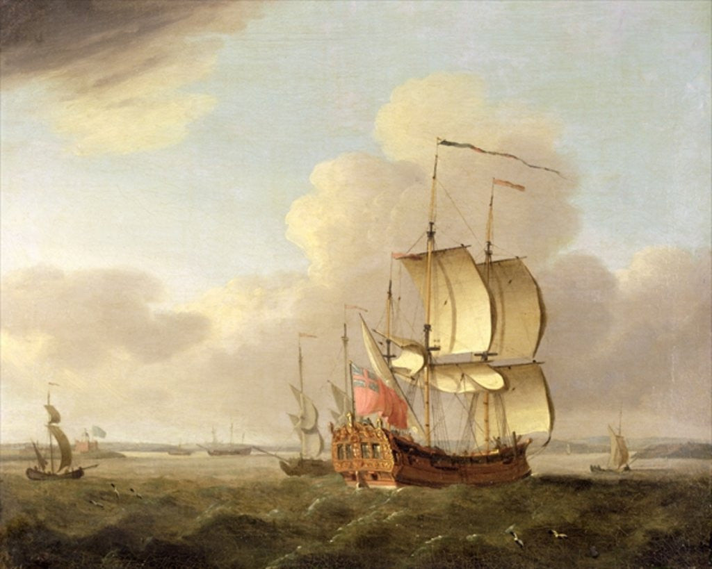 Detail of Shipping in the Thames Estuary by Thomas Mellish