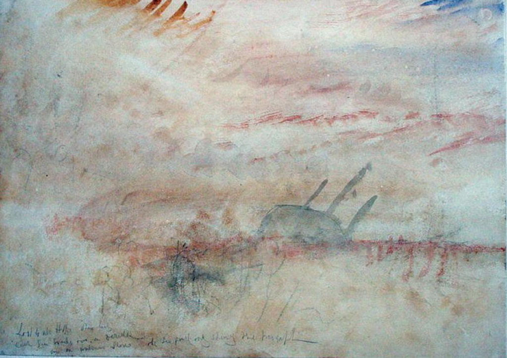 Detail of Lost to All Hope The Brig by Joseph Mallord William Turner