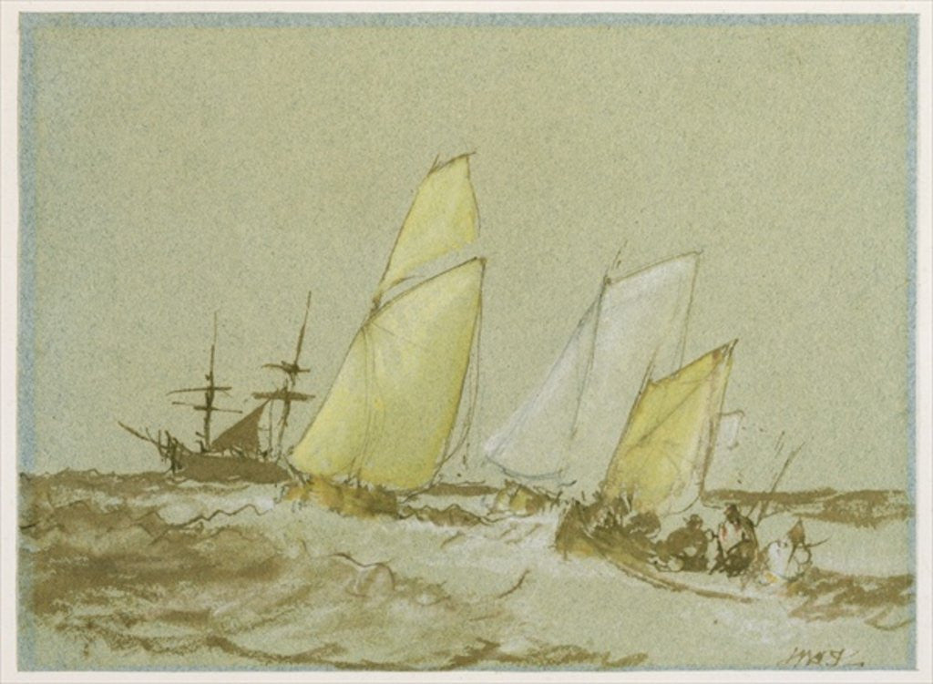 Detail of Shipping by Joseph Mallord William Turner