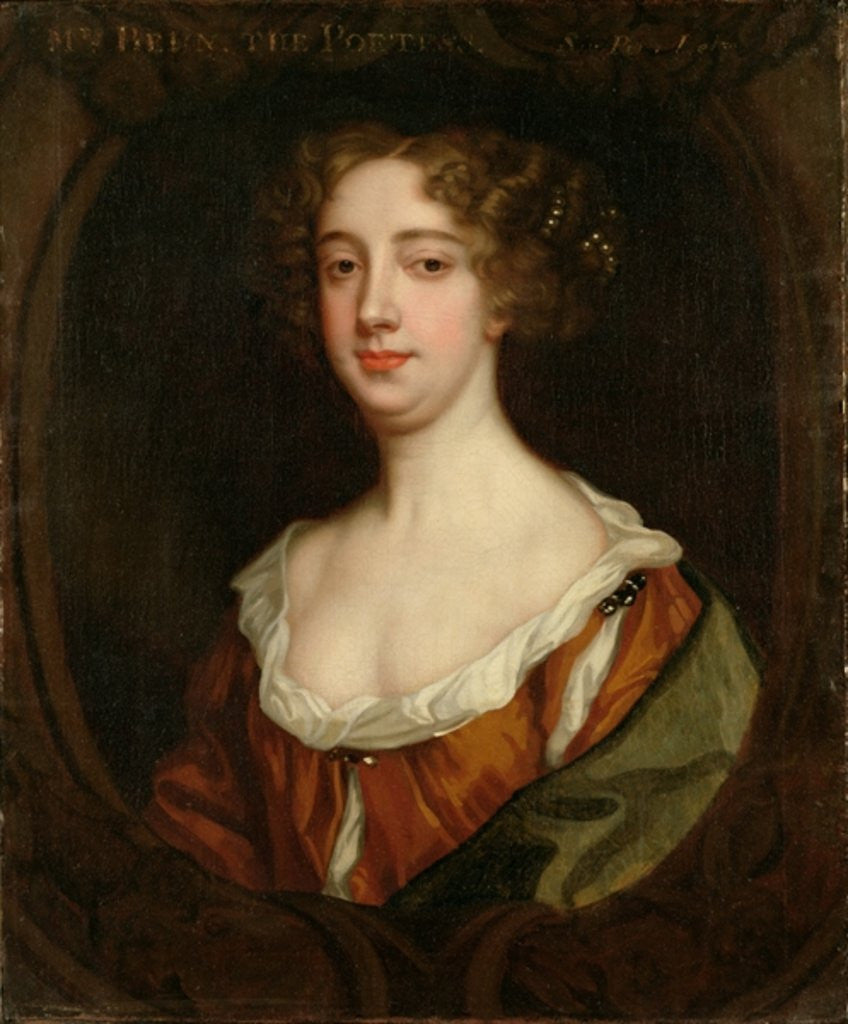 Detail of Aphra Behn by Sir Peter Lely