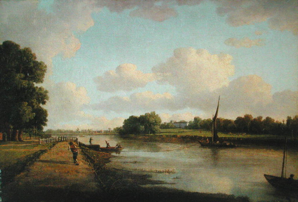 Detail of View on the River Thames at Richmond by William Marlow