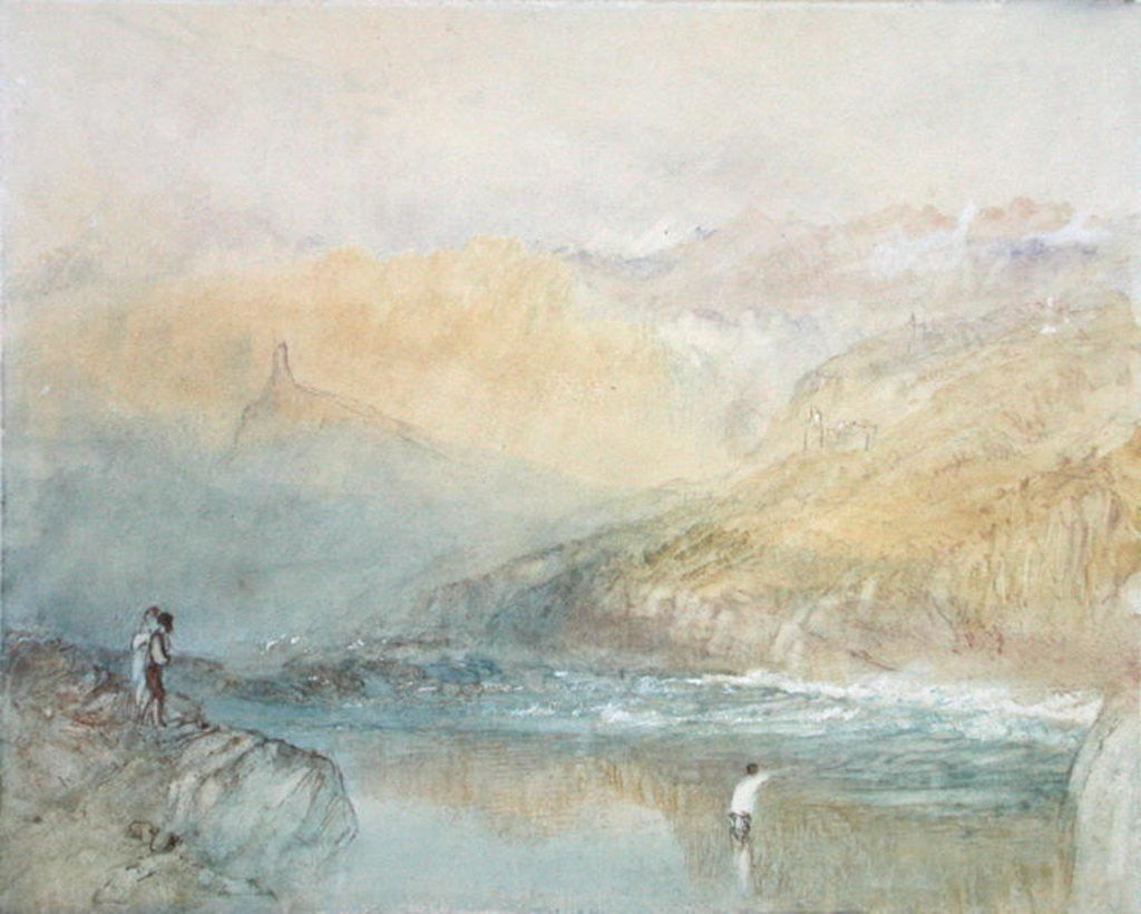 Detail of On the Mosell, near Traben Trarabach by Joseph Mallord William Turner