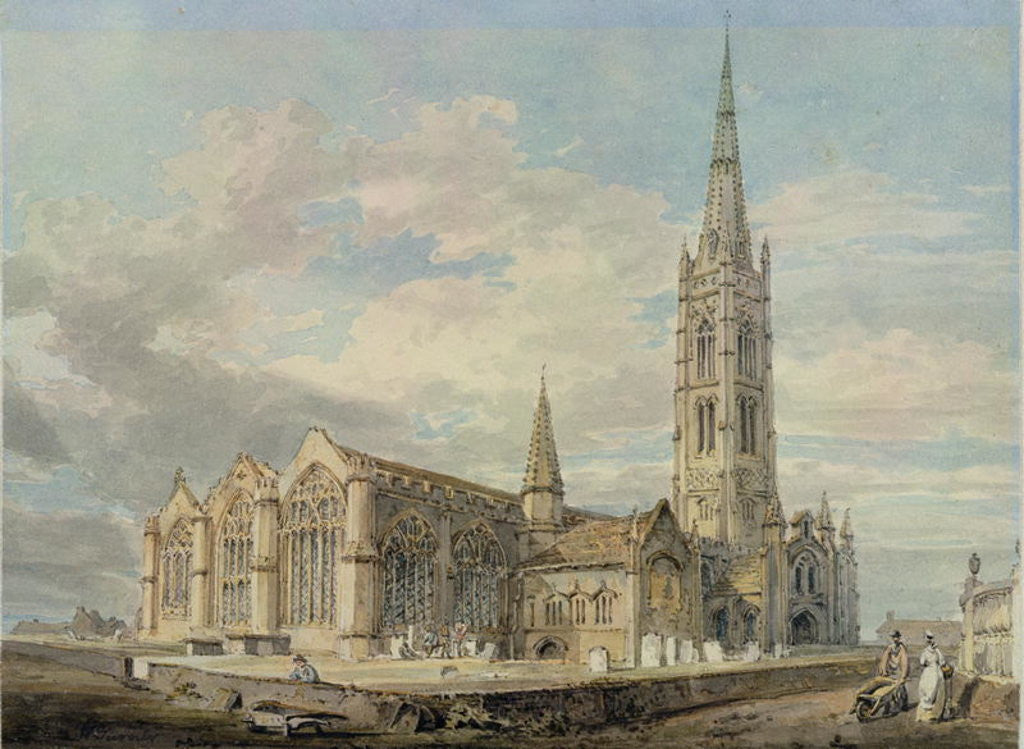 Detail of North-east View of Grantham Church, Lincolnshire by Joseph Mallord William Turner