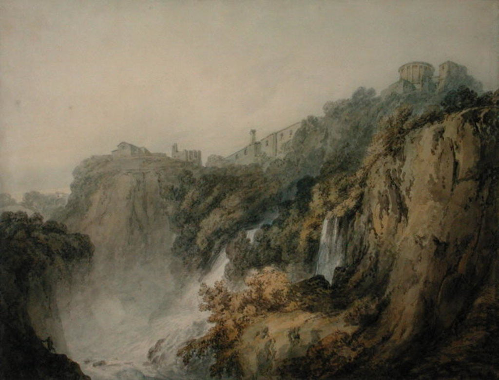 Detail of Tivoli with the Temple of the Sibyl and the Cascades by Joseph Mallord William Turner
