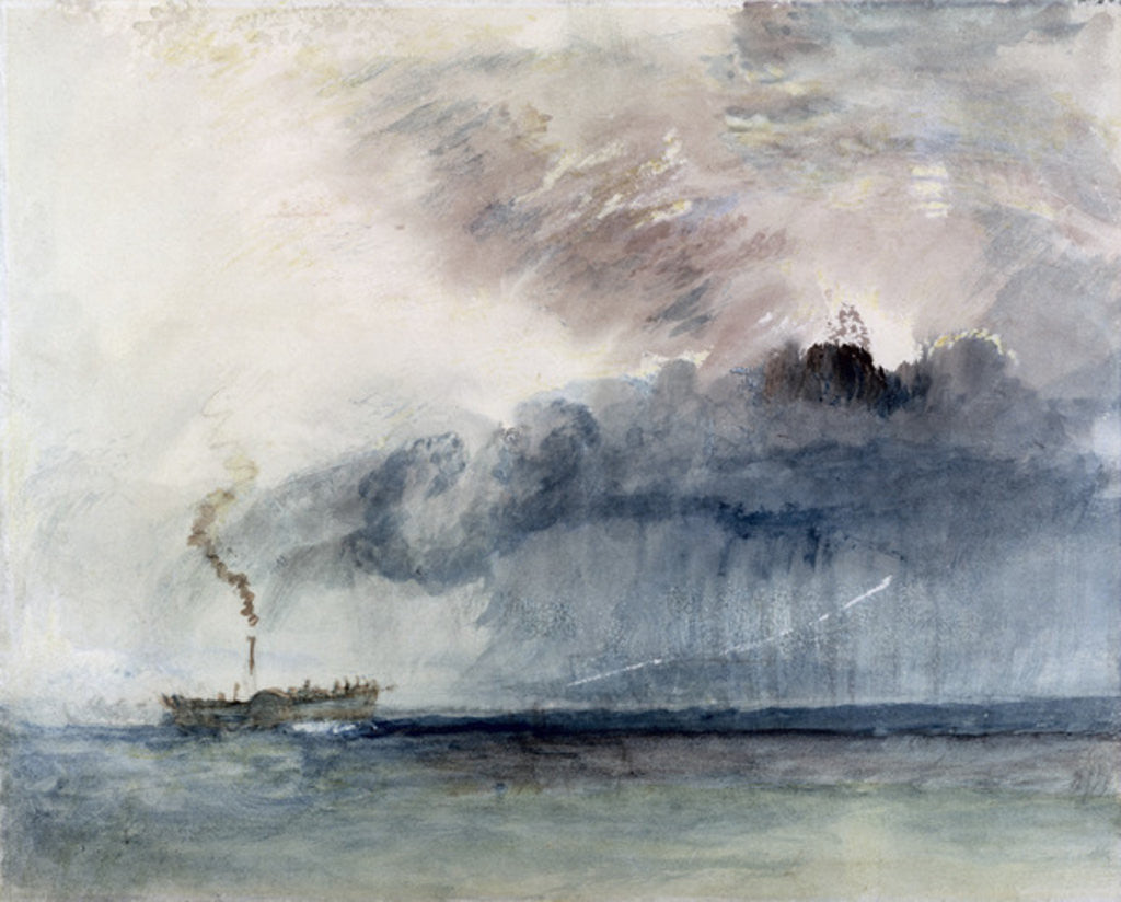 Detail of Steamboat in a Storm by Joseph Mallord William Turner