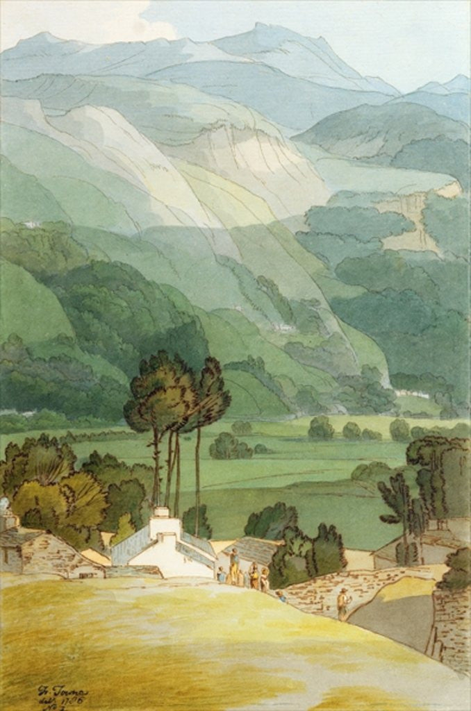 Detail of Ambleside by Francis Towne