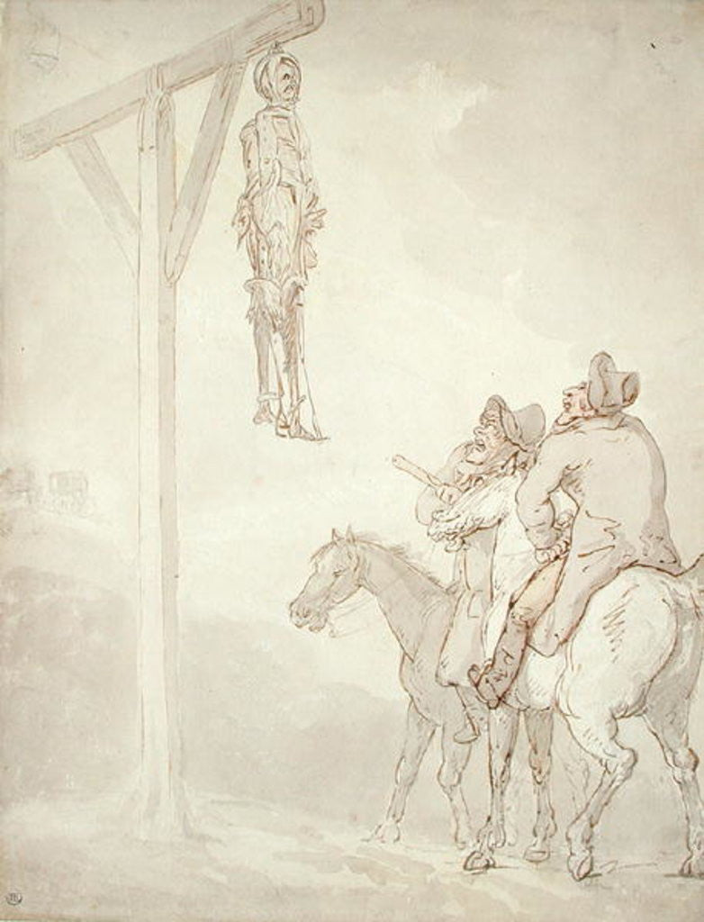 Detail of The Gibbet by Thomas Rowlandson