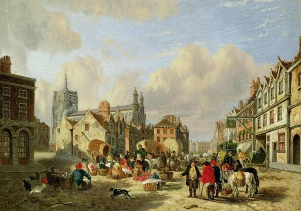 Detail of The Haymarket, Norwich by David Hodgson