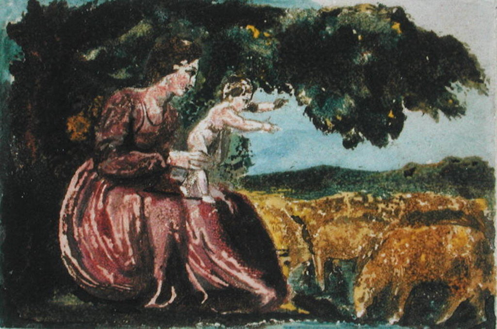 Detail of 'The Little Girl Lost' by William Blake