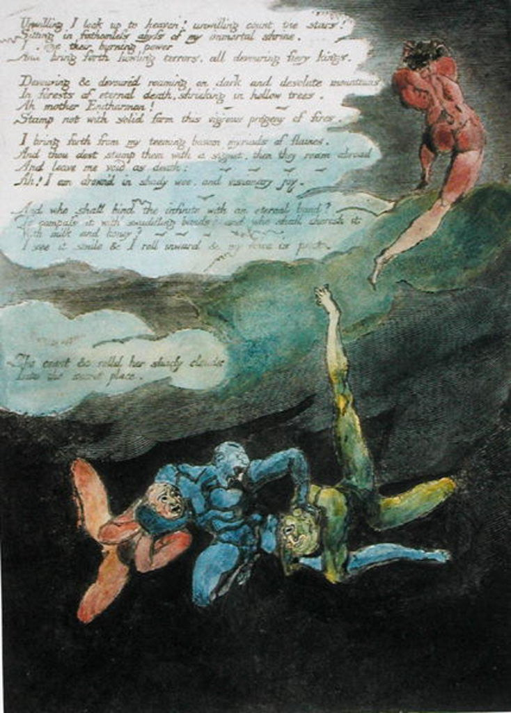 'Elegy written in a Country Church-Yard' by William Blake