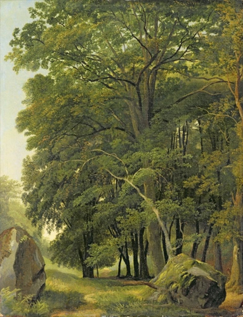 Detail of A Wooded Landscape by Ramsay Richard Reinagle