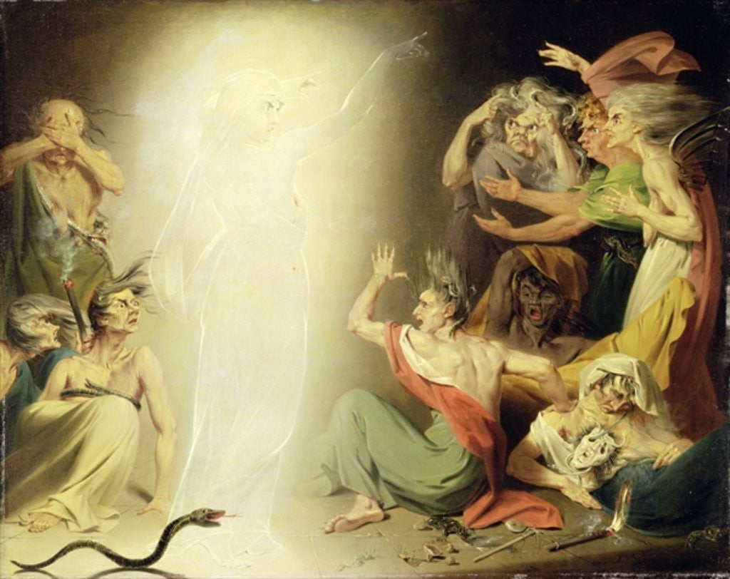 Detail of The Ghost of Clytemnestra Awakening the Furies by John Downman