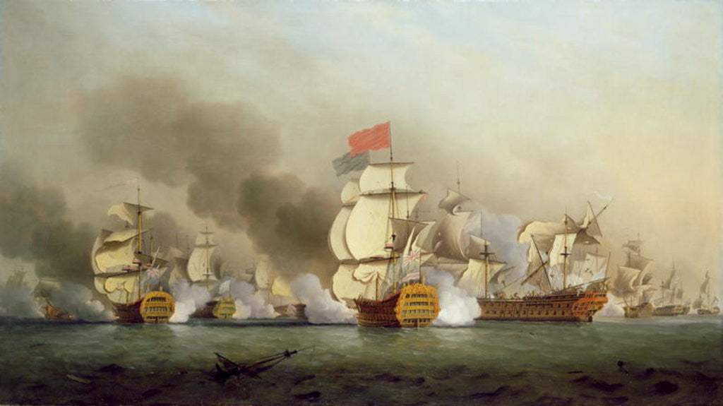 Detail of Vice Admiral Sir George Anson's Victory off Cape Finisterre by Samuel Scott