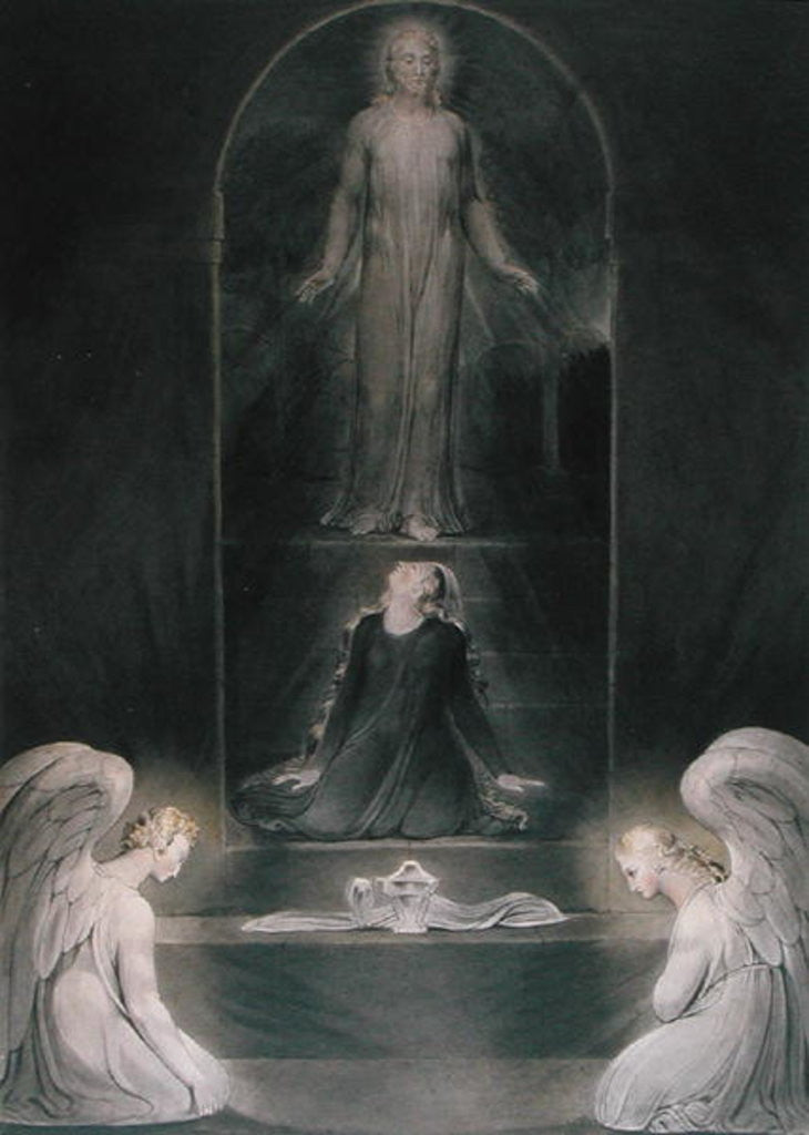 Detail of Mary Magdalene at the Sepulchre by William Blake