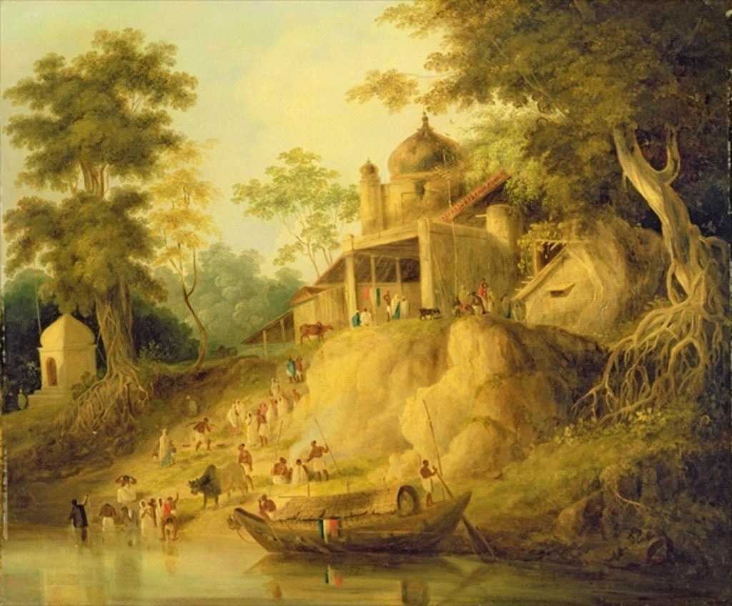 The Banks of the Ganges by William Daniell