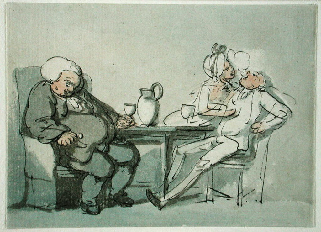 Detail of The Doctor Overcame by Thomas Rowlandson