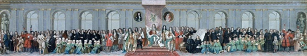 Detail of James II Receiving the Mathematical Scholars of Christ's Hospital by Antonio Verrio