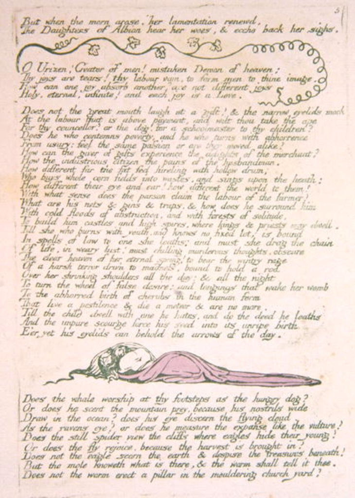 Detail of But when the morn arose... by William Blake