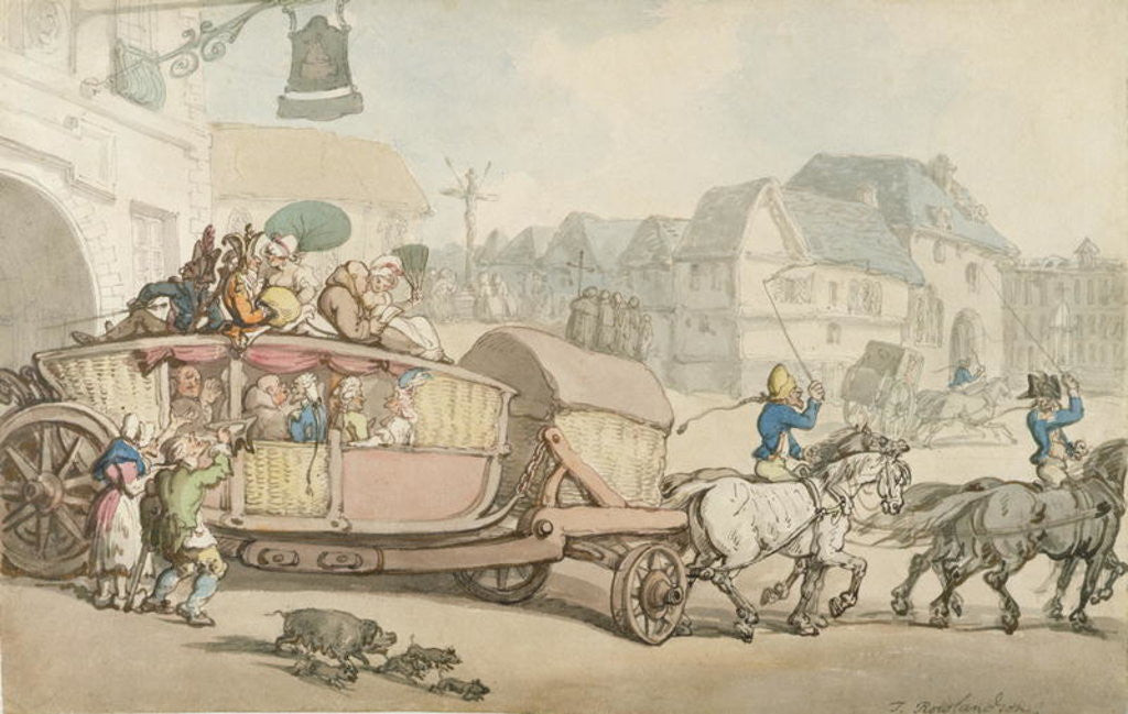 Detail of The Paris Diligence by Thomas Rowlandson