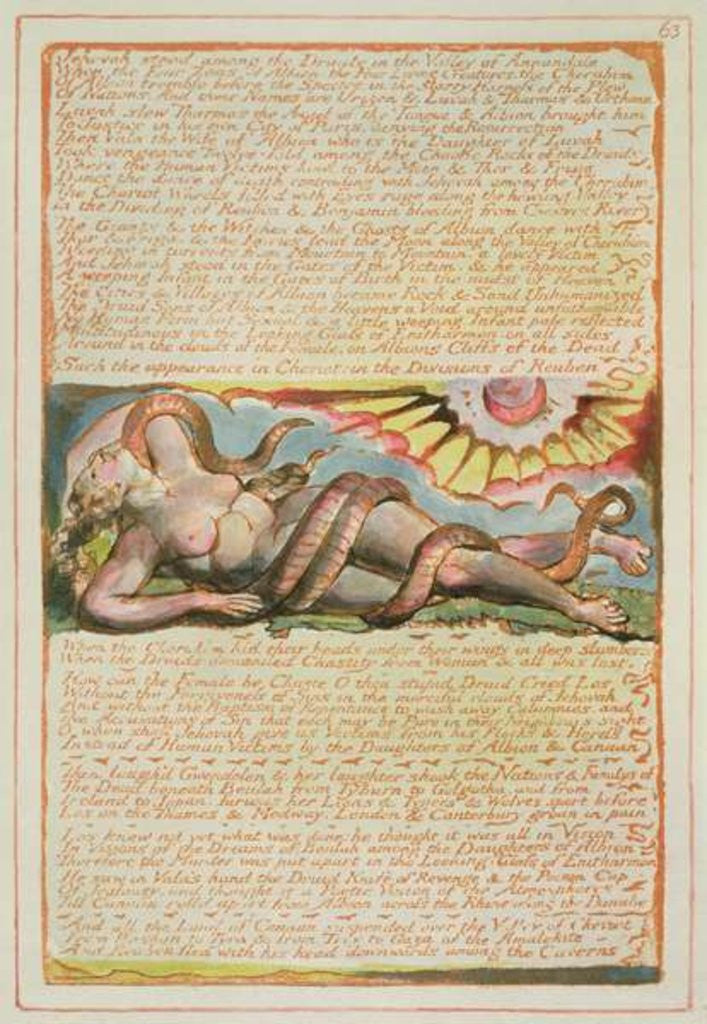 Detail of Jehovah stood among the Druids... by William Blake
