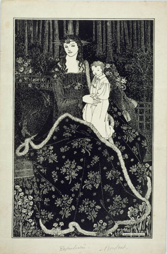 Detail of A large Christmas Card by Aubrey Beardsley