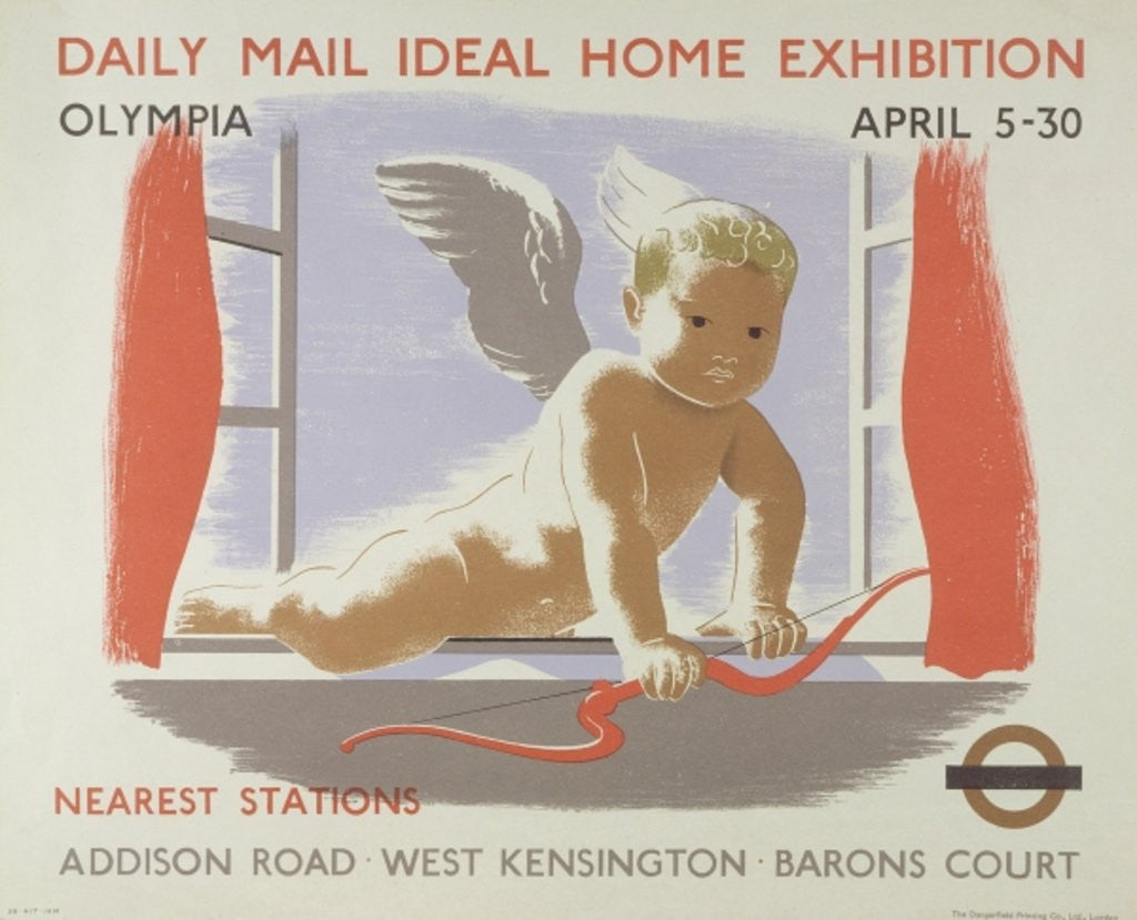 Poster for the Daily Mail Ideal Home Exhibition at Kensington Olympia, London by English School