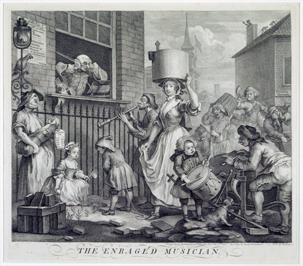 Detail of The Enraged Musician by William Hogarth