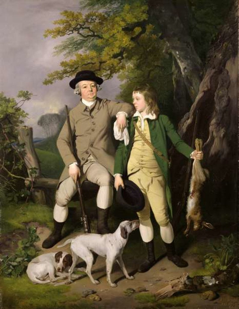Detail of Portrait of a Sportsman with his Son by Francis Wheatley
