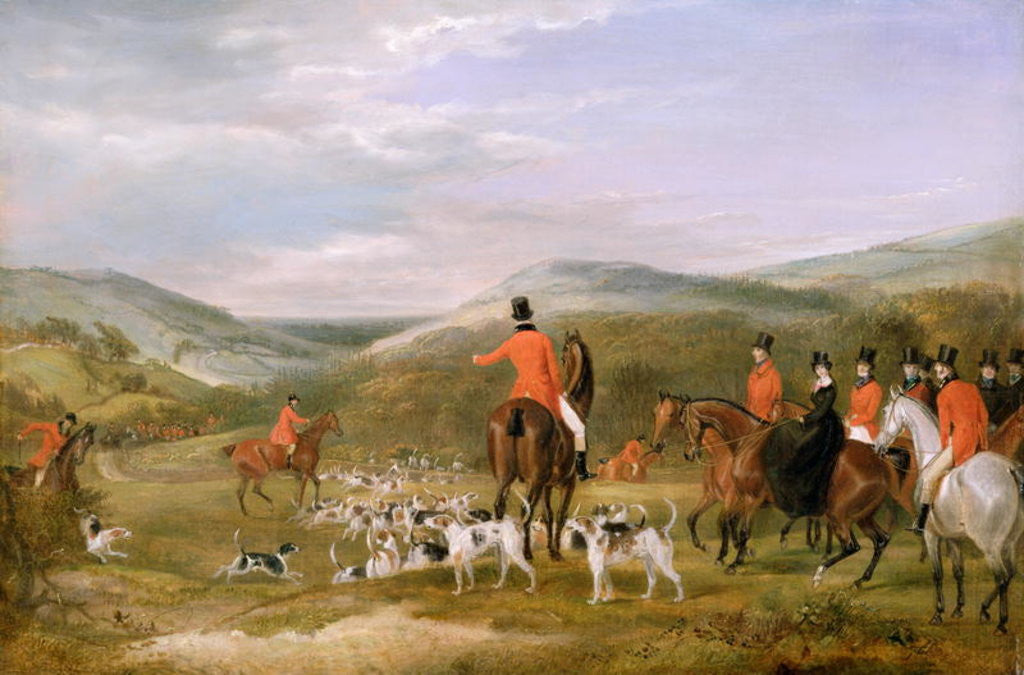 Detail of The Berkeley Hunt, 1842: The Meet by Francis Calcraft Turner