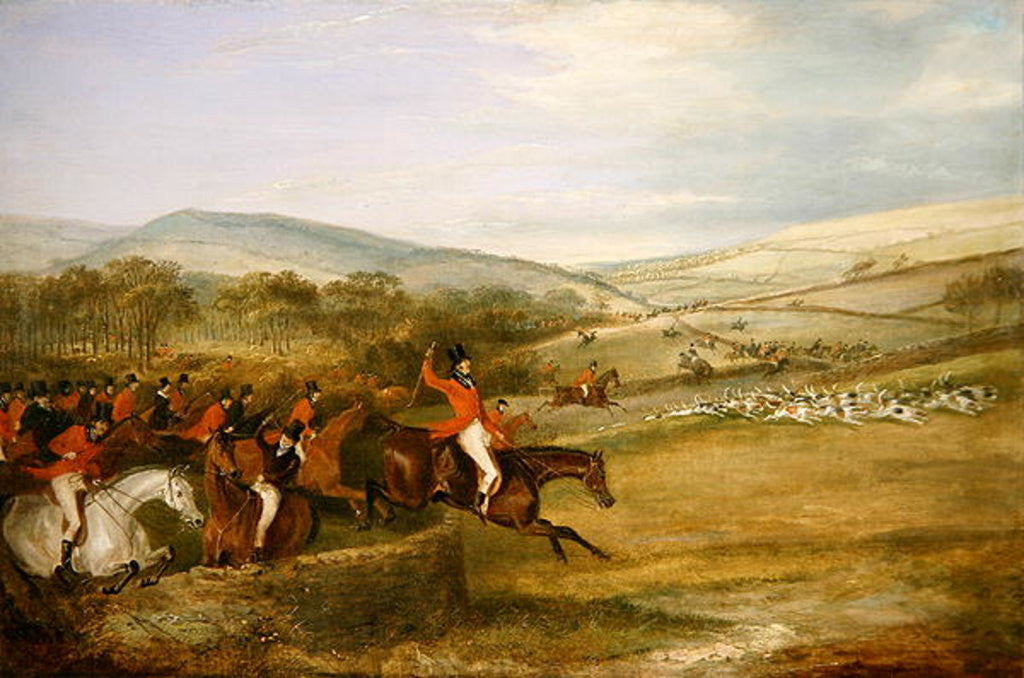 Detail of The Berkeley Hunt, Full Cry by Francis Calcraft Turner