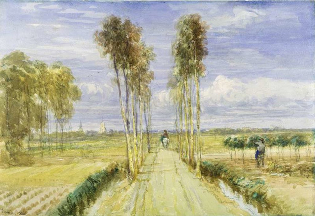 Detail of The Poplar Avenue by David Cox
