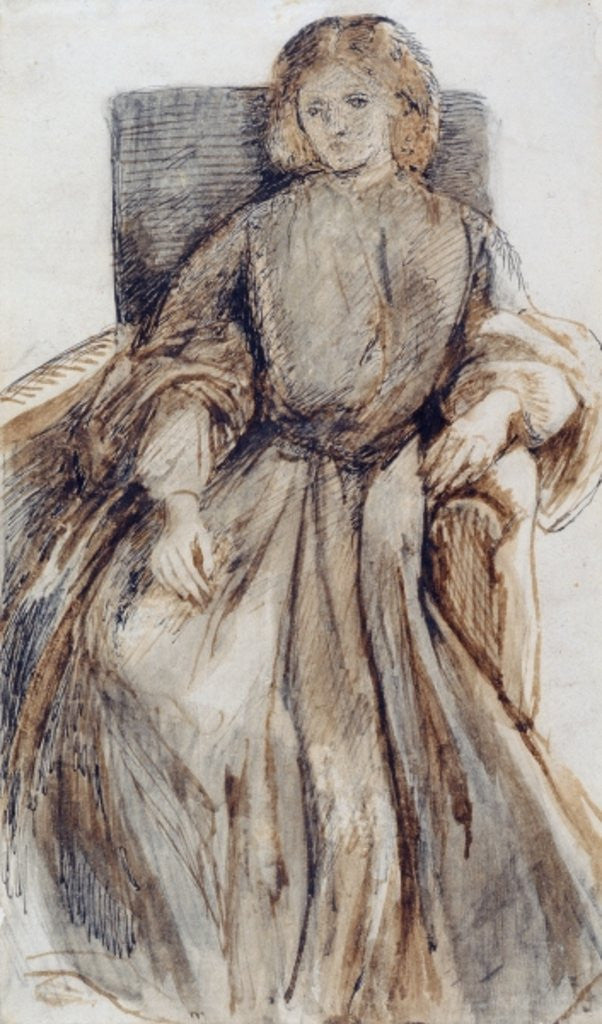 Detail of View of Bath from Spring Gardens by Dante Gabriel Charles Rossetti
