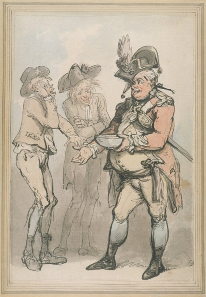 Detail of The Recruiting Sergeant by Thomas Rowlandson