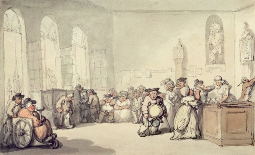 Detail of The Pump Room by Thomas Rowlandson
