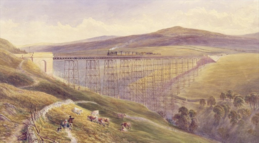 Detail of Belah Viaduct by John Osborn Brown