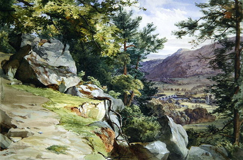 Detail of View of Craig-y-Barns, Dunkeld, Looking South by John Henry Mole