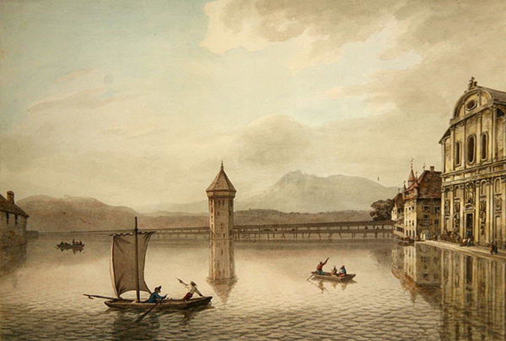 Detail of A View at Lucerne by William Pars