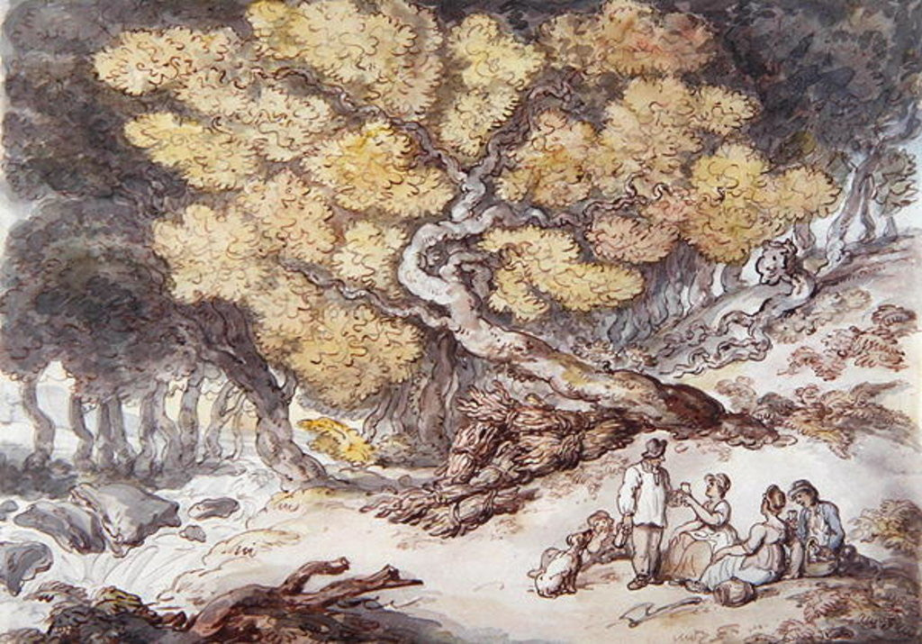 Detail of A Woodcutter's Picnic by Thomas Rowlandson