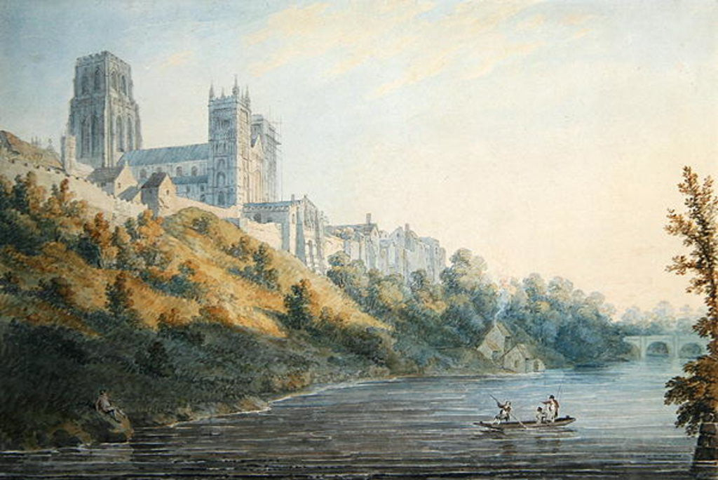 Detail of Durham Cathedral by Edward Dayes
